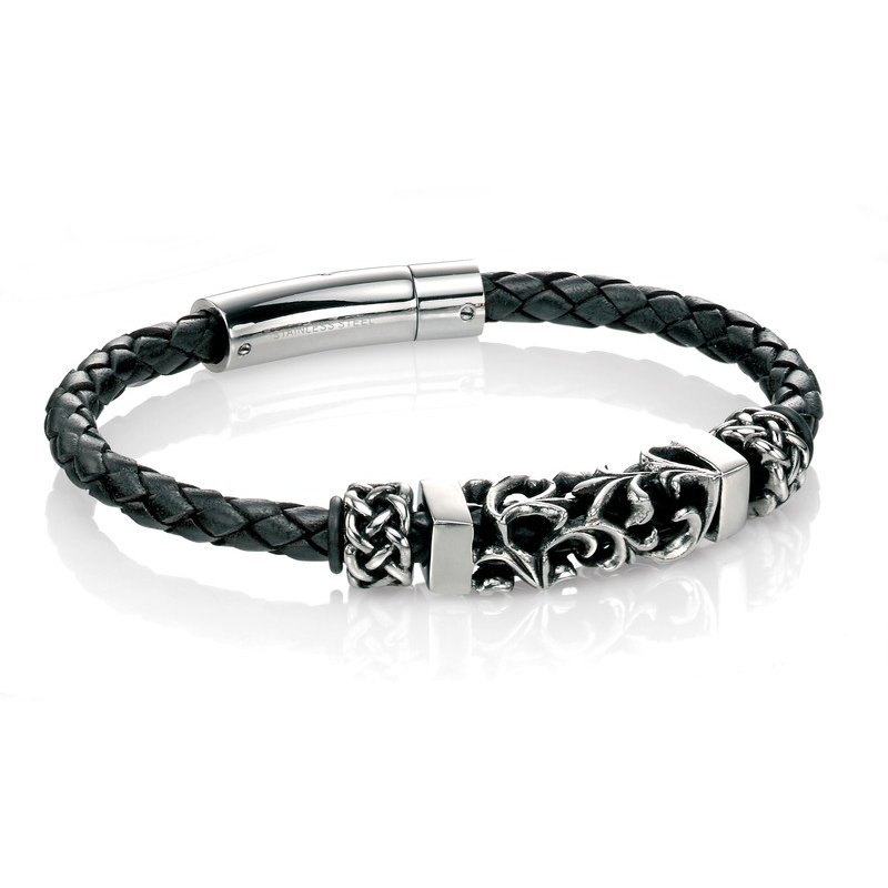 Fred Bennett Leather Bracelet B4378 - Robert Openshaw Fine Jewellery