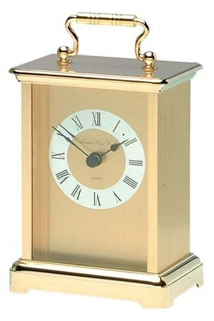 LONDON CLOCK CO GOLD FINISH CARRIAGE CLOCK 02054 - Robert Openshaw Fine Jewellery