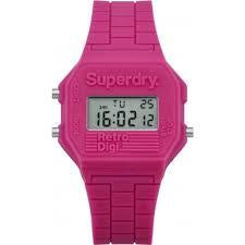 Superdry Ladies' Mini Retro Digi Alarm Chronograph Watch SYL201P - Robert Openshaw Fine Jewellery