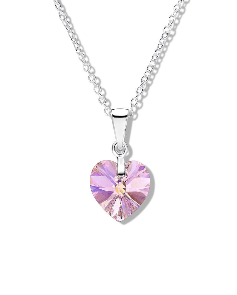 JO FOR GIRLS SILVER SWAROVSKI HEART PENDANT SWP01P