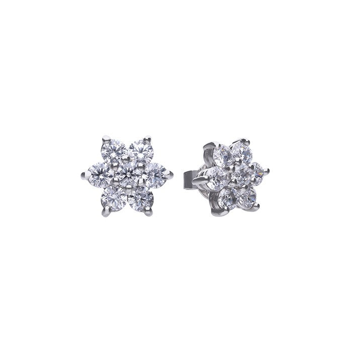 Diamonfire Petal Cluster Earrings 62-1797-1-082