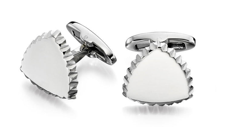 FRED BENNETT CORREGATED EDGE CUFFLINKS V491
