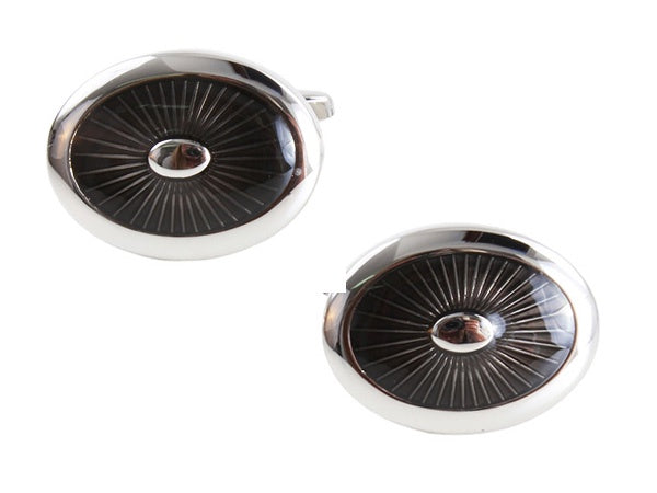 OVAL CUFFLINKS 901512 - Robert Openshaw Fine Jewellery