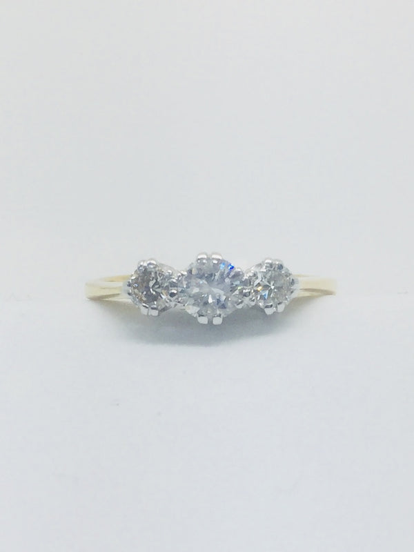 18ct Yellow Gold Three Stone 0.55cts Diamond Ring - BEAUMONT