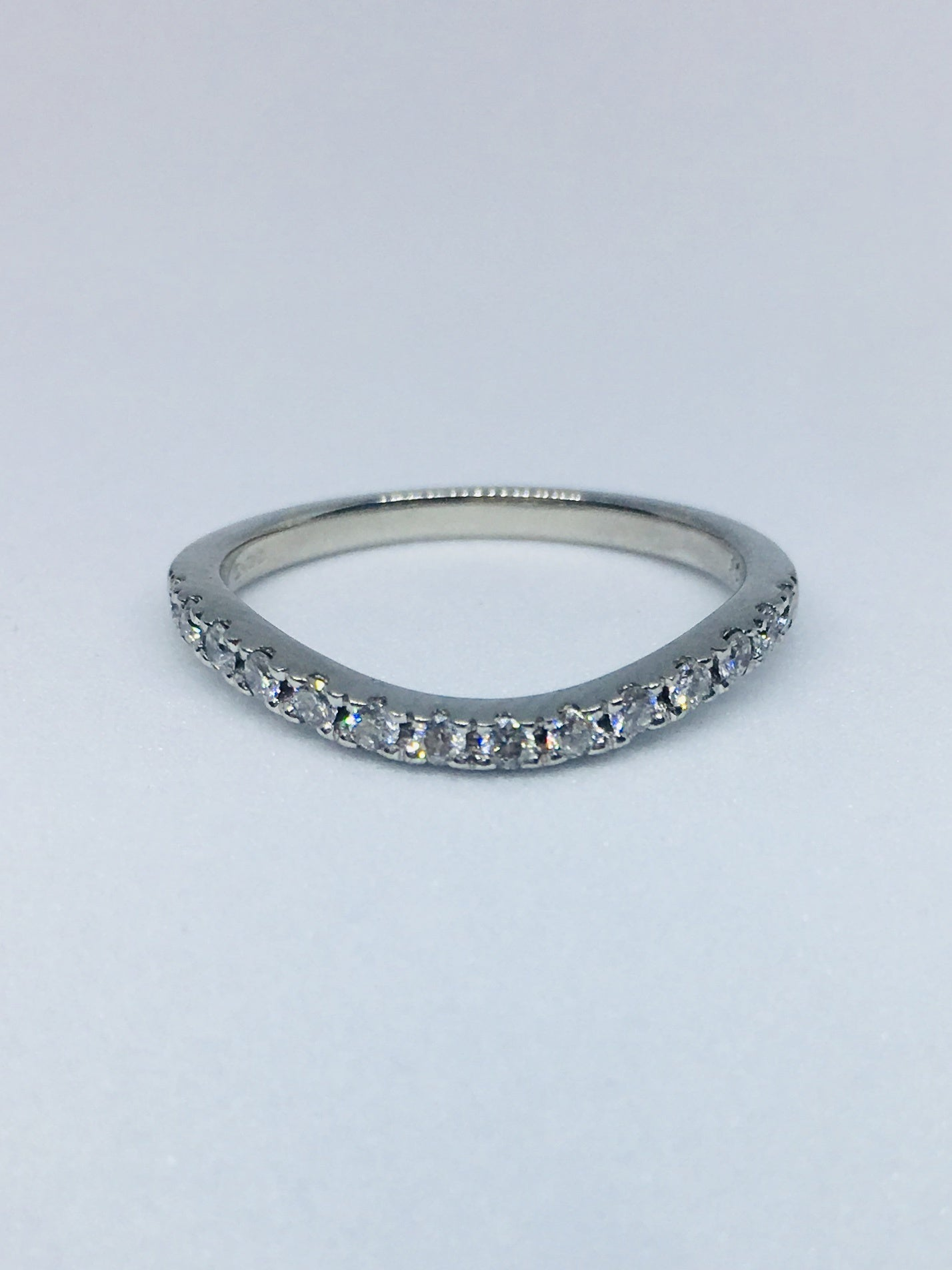 Platinum 0.21cts Shaped Eternity Ring