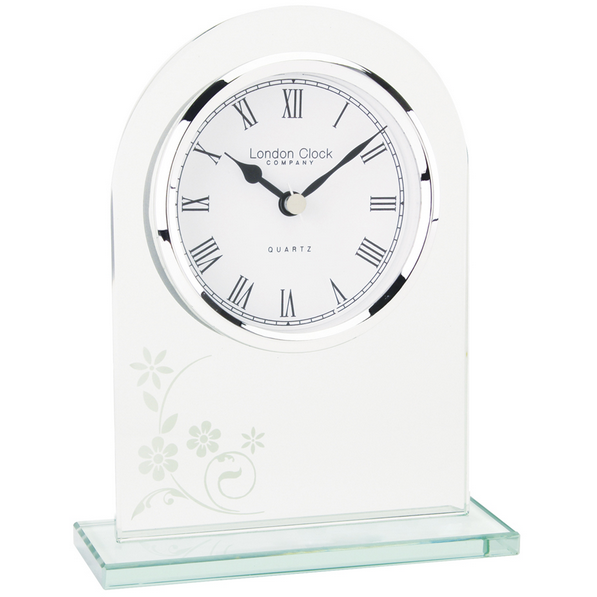 LONDON CLOCK CO GLASS ARCH TOP CLOCK 05129 - Robert Openshaw Fine Jewellery