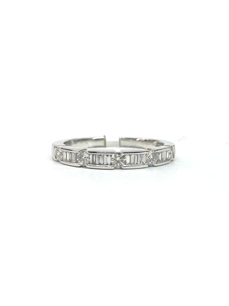 18ct White Gold Half Eternity Ring 2596/2