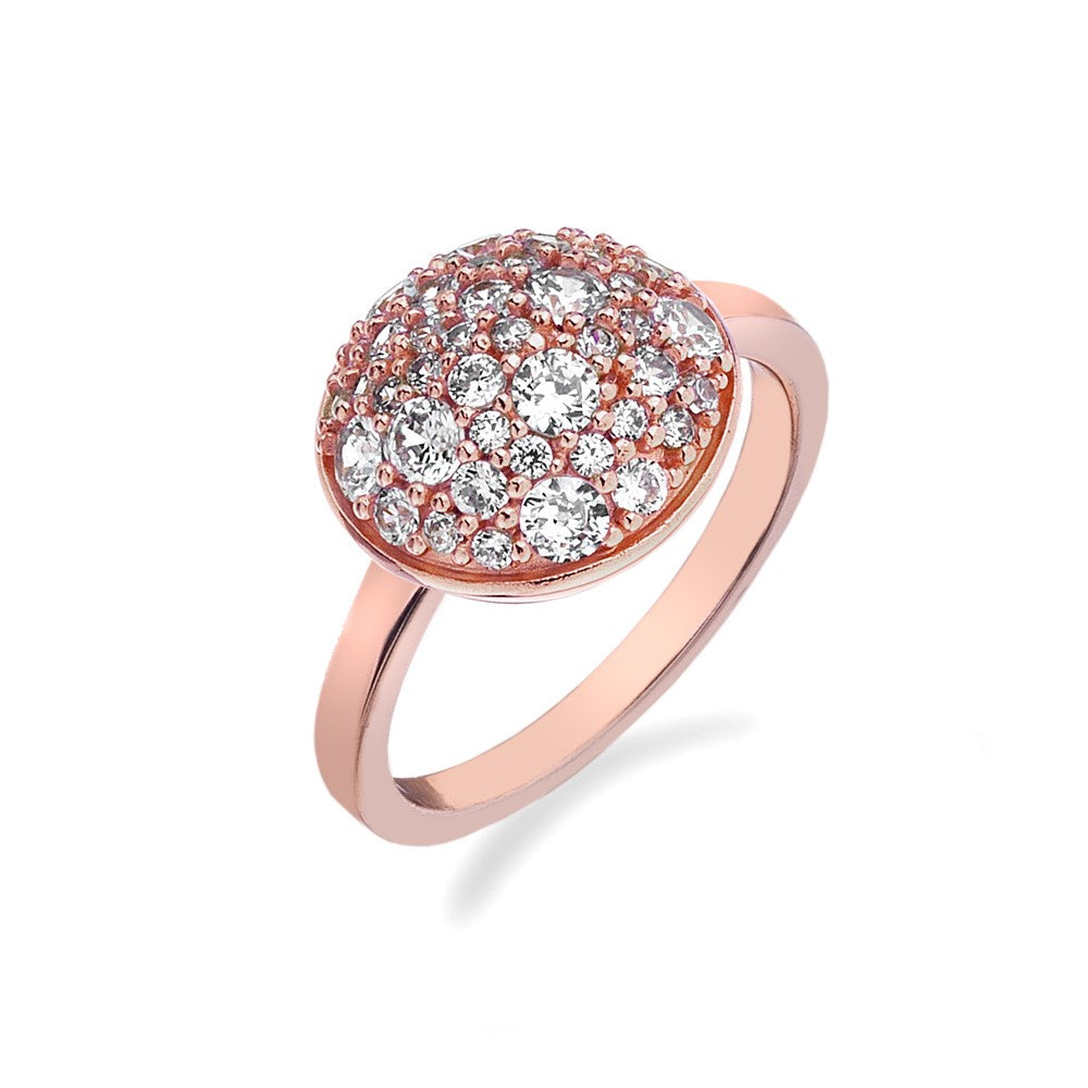 Hot Diamonds Silver Innocence Rose Gold Plated Ring ER012