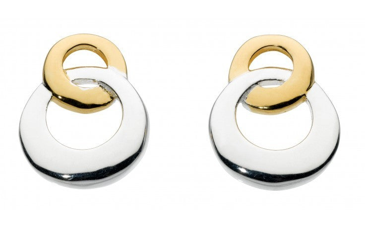 SILVER LINKING CIRCLES MIXED COLOUR STUDS 4863HP013 - Robert Openshaw Fine Jewellery