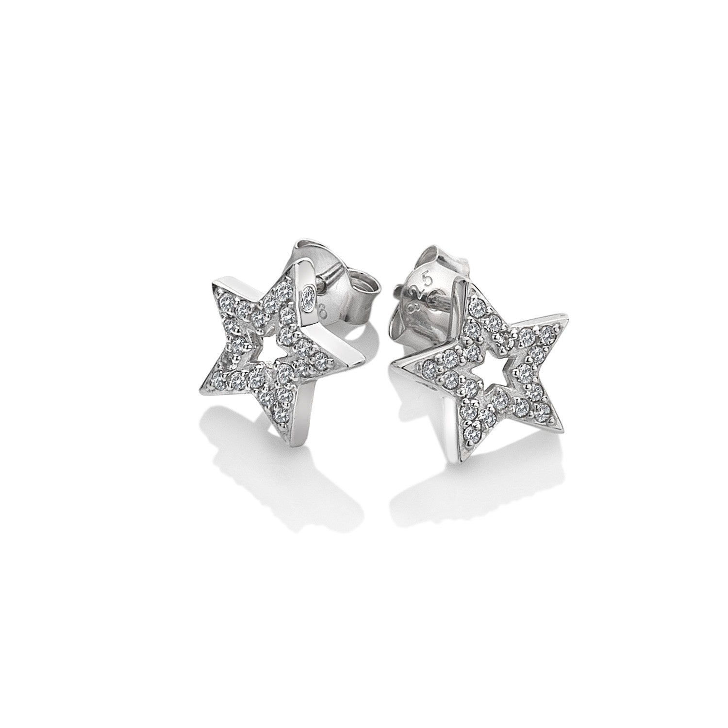 Hot Diamonds Silver Striking Star Earrings DE554