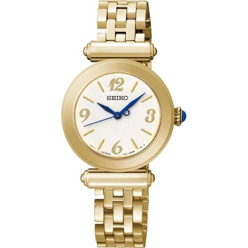 SEIKO LADIES GOLD PLATED 50M BRACELET WATCH SRZ404P1