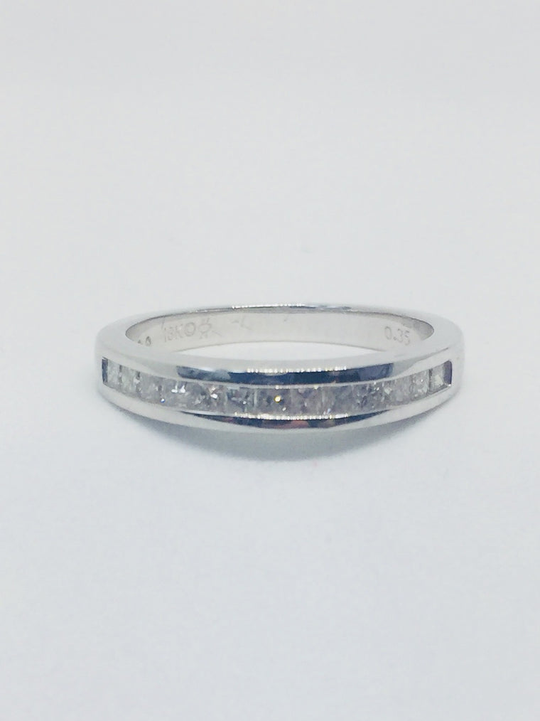 18ct White Gold Princess Cut eternity Ring - 20022018A