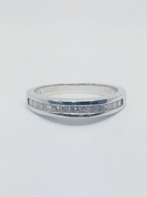18ct White Gold Princess Cut eternity Ring - 20022018A - Robert Openshaw Fine Jewellery