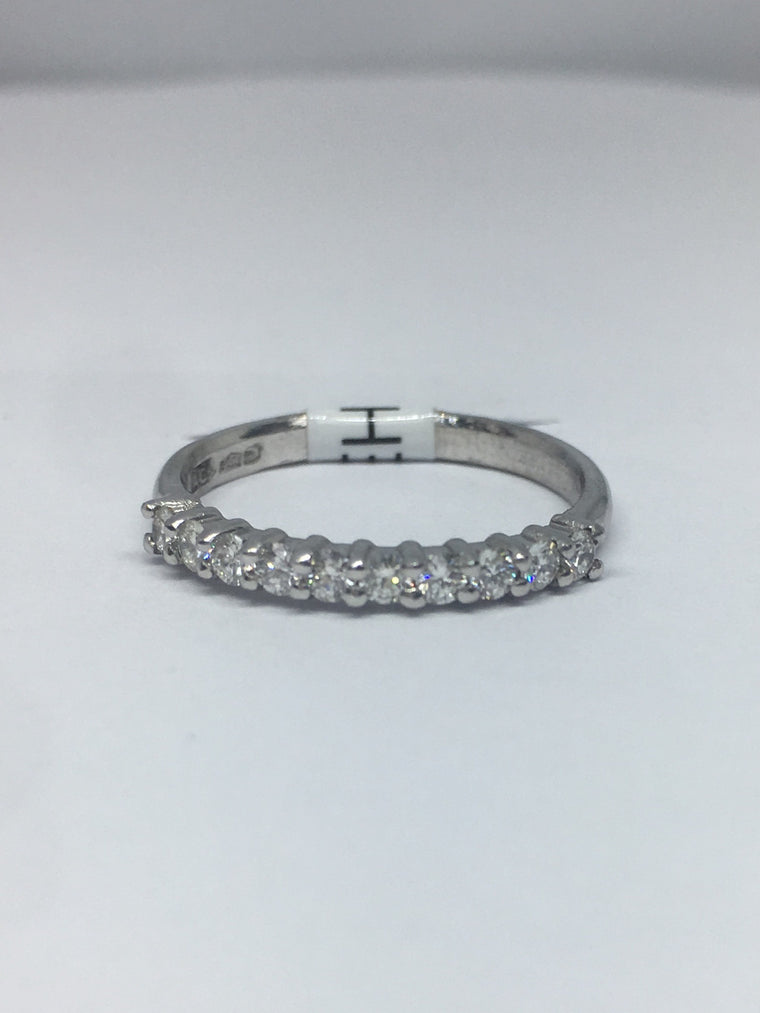 Platinum Ten Stone Diamond Eternity Ring 0.33cts