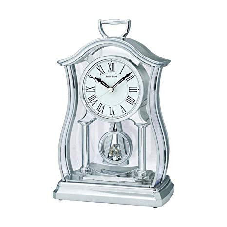 Rhythm Silver Carriage Clock with Swarovski Crystals CRP611WR19