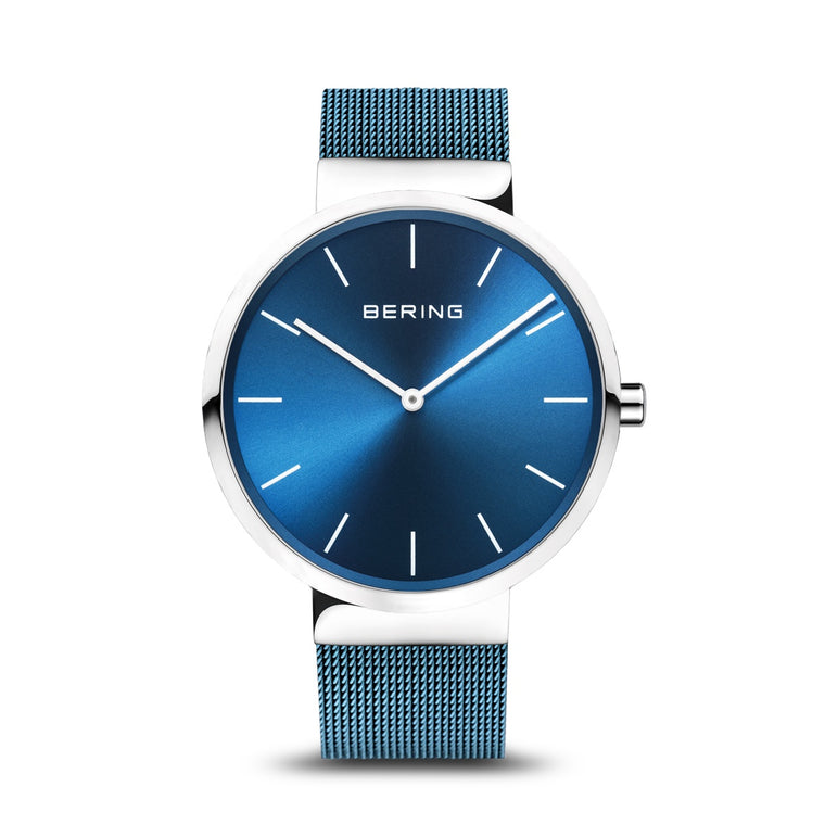 Bering Mens Blue Strap Watch 16540-308