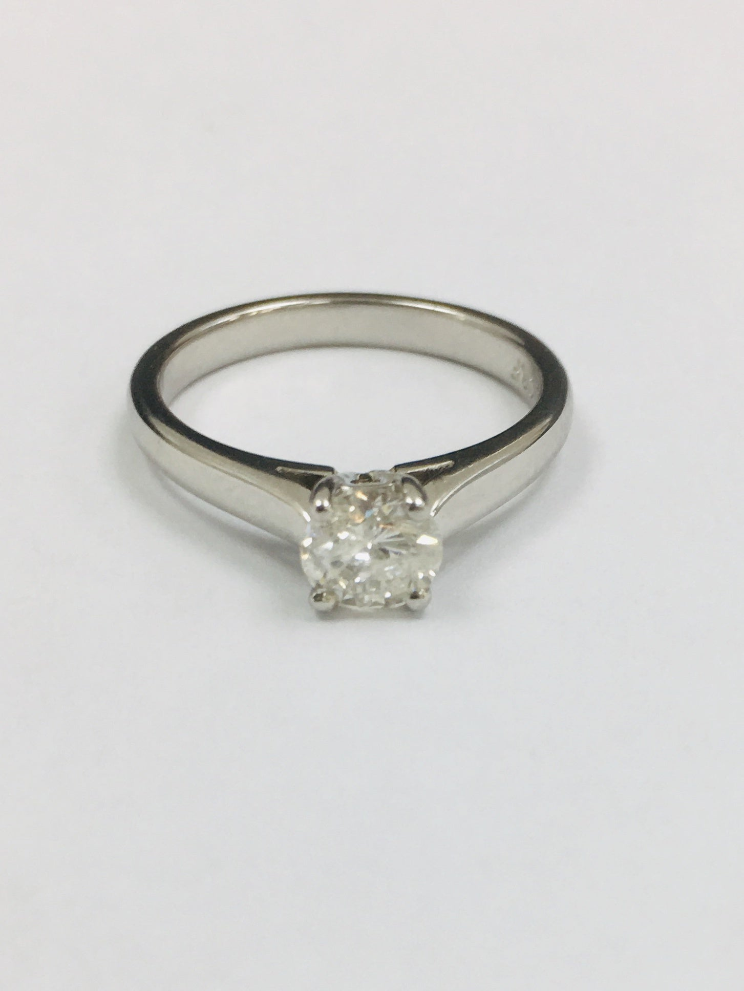 All Platinum 0.70cts Diamond Ring