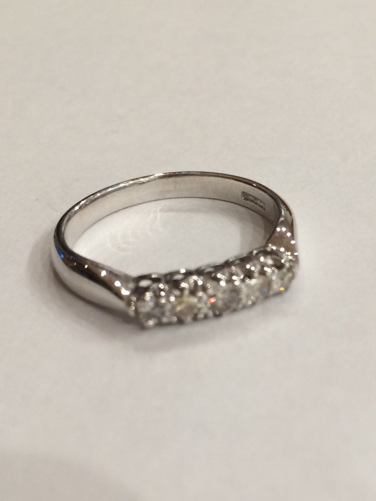 18CT WHITE GOLD 0.33CT DIAMOND ETERNITY RING HORSLEY