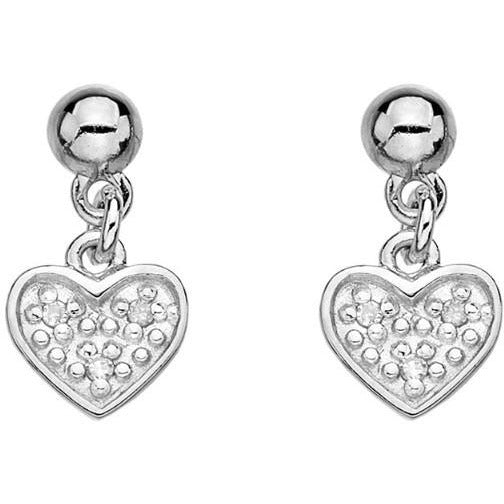 Hot Diamonds Stargazer Heart Earrings DE382 - Robert Openshaw Fine Jewellery