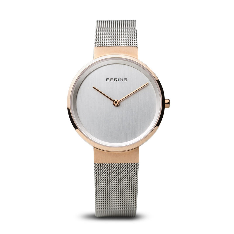 Bering Womans Classic Polished Rose Gold Watch 15431-060 - Robert Openshaw Fine Jewellery