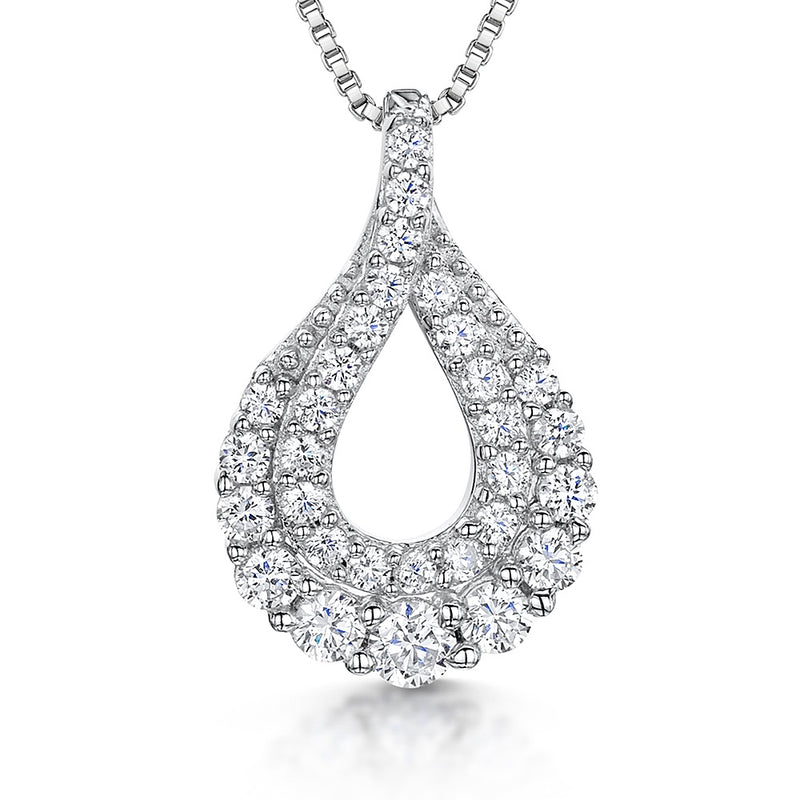 JOOLS 925 CZ Tear Drop Necklace KPN3220 - Robert Openshaw Fine Jewellery