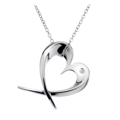 Hot Diamonds Large Entwine Heart DP366