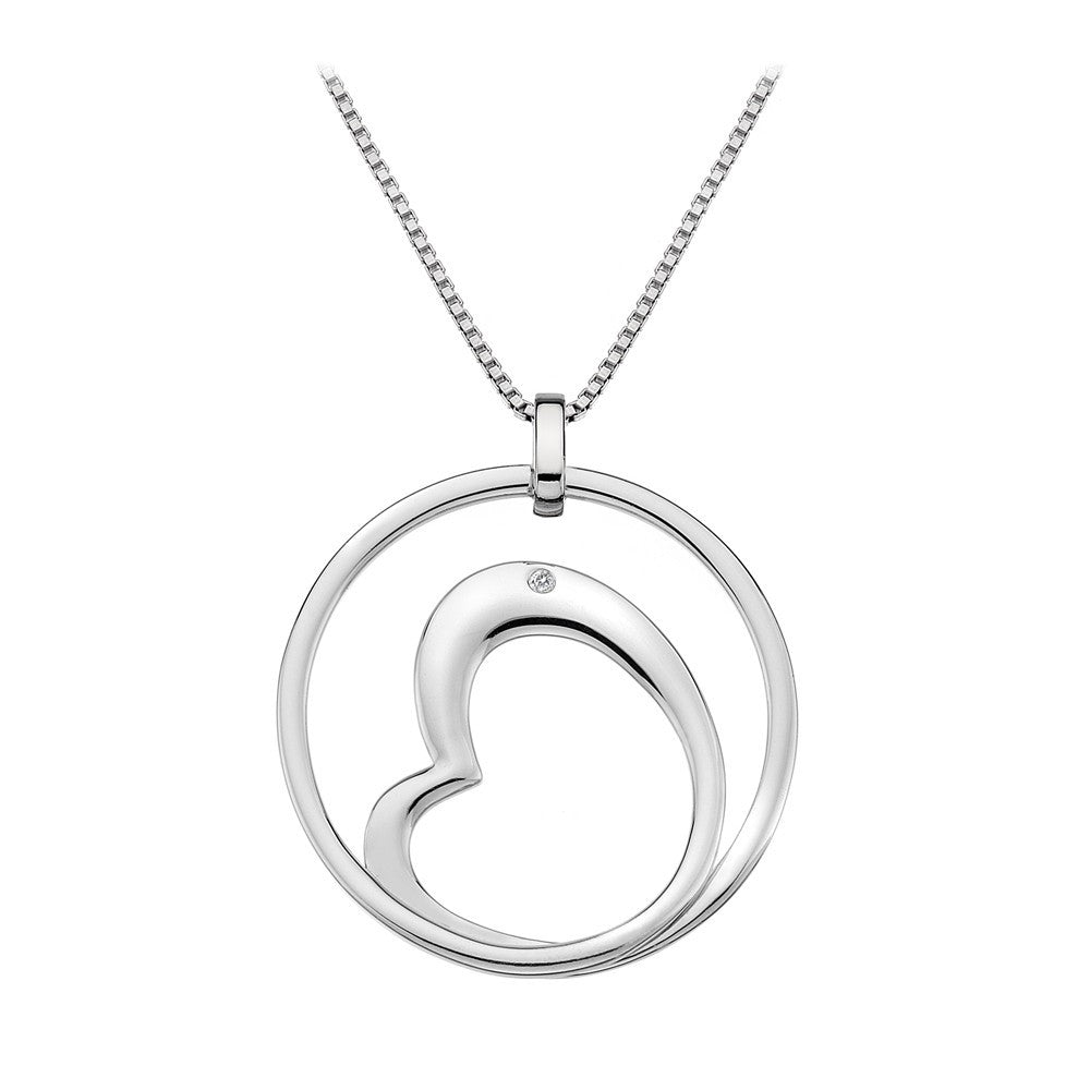 Hot Diamonds Forever Heart in Circle DP464 - Robert Openshaw Fine Jewellery