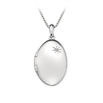 Hot Diamonds Rose Oval Pendant DP493