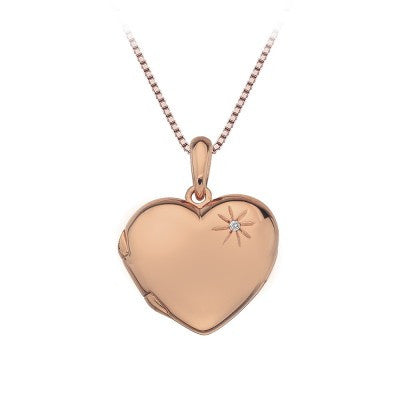 Hot Diamonds Rose Heart Pendant DP496 - Robert Openshaw Fine Jewellery