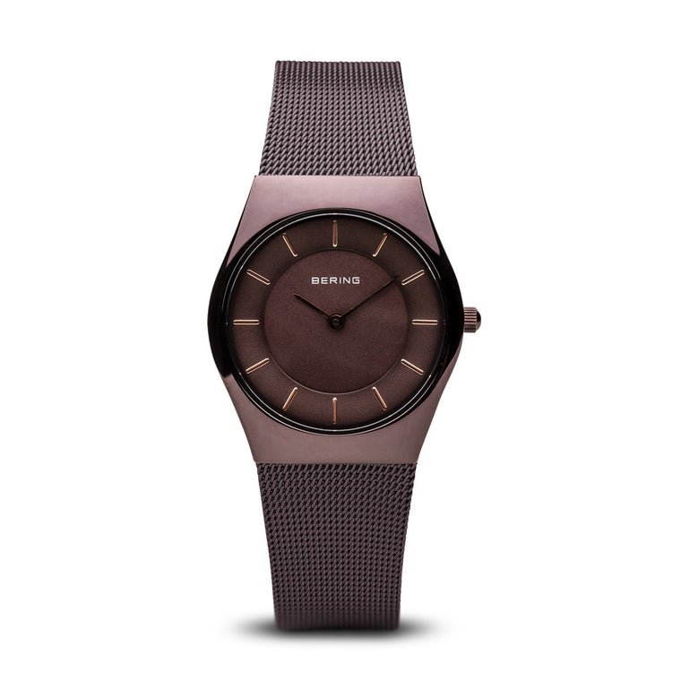 Bering Womens Classic Polished Brown Watch 11930-105