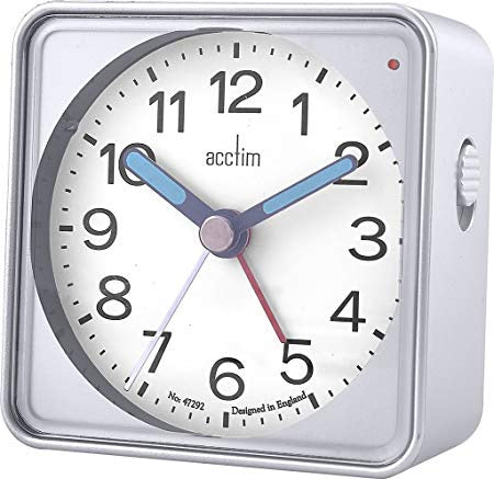"Acctim ""Adina"" Alarm Clock in Silver 15457 - Robert Openshaw Fine Jewellery"