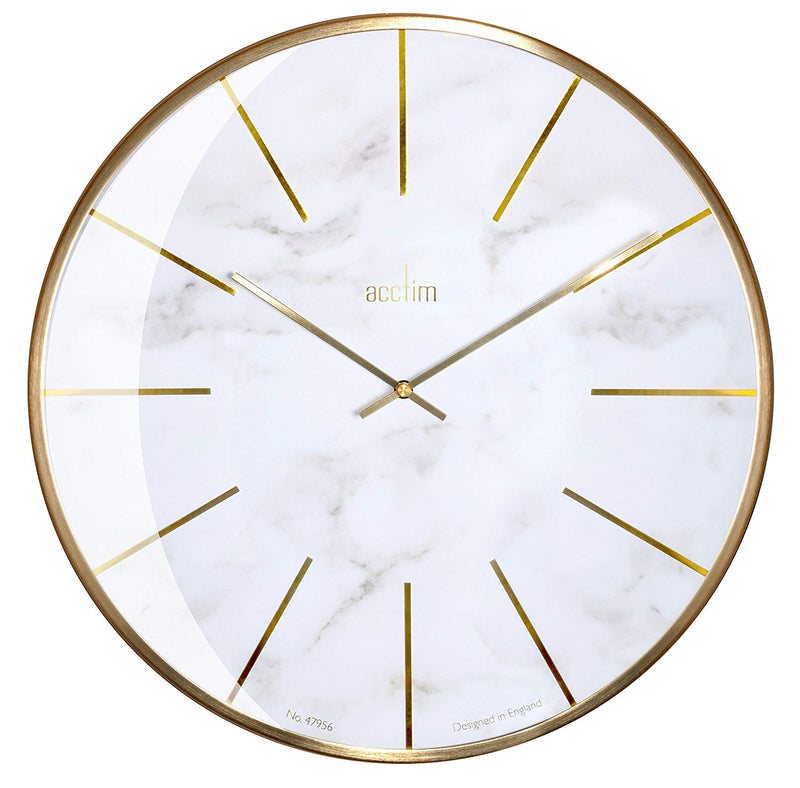 "Acctim ""Luxe 40cm Marble & Domed Wall Clock 29432 - Robert Openshaw Fine Jewellery"