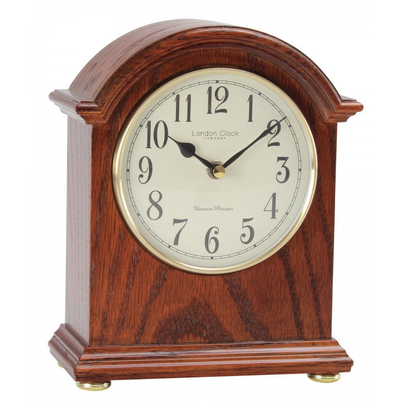 LONDON CLOCK CO DARK WOOD MANTLE CLOCK 03089 - Robert Openshaw Fine Jewellery