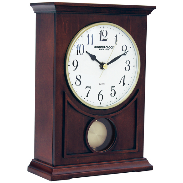 london clock co flat top mantle clock 06393