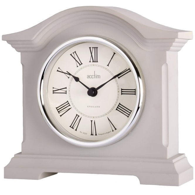"Acctim ""Cliffburn"" Mantle Clock in Taupe 33796 - Robert Openshaw Fine Jewellery"