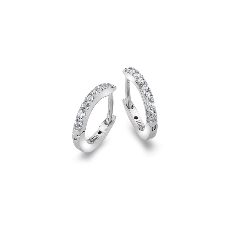 Hot Diamonds Silver Constant Loop Earrings DE581