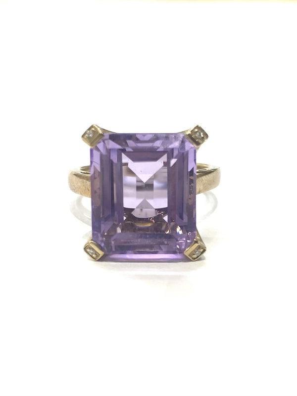 9ct White Gold 8.22cts Amethyst Ring KR4967AM-9