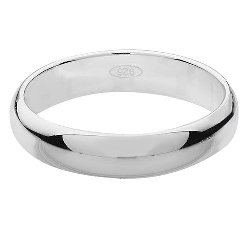 925 Silver 3mm D Shape Wedding Ring G7784
