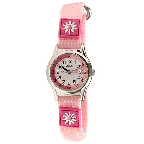 LORUS GIRLS PINK TIME TEACHER STRAP WATCH RG269BX9