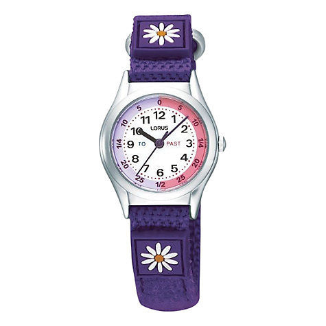LORUS KIDS PURPLE TIME TEACHER STRAP WATCH RRX243HX9 - Robert Openshaw Fine Jewellery