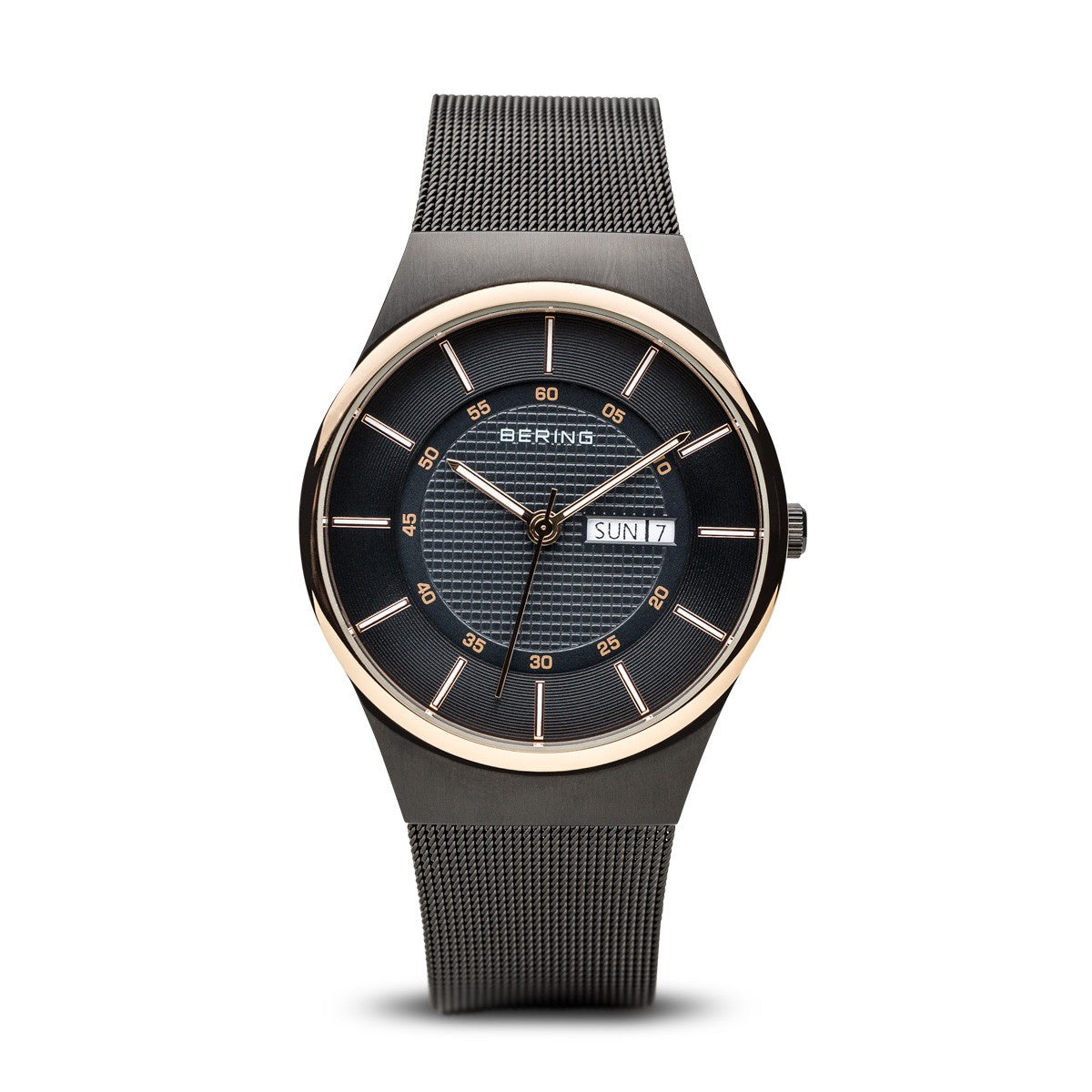 Bering Mens Classic Brushed Black Watch 12939-166 - Robert Openshaw Fine Jewellery