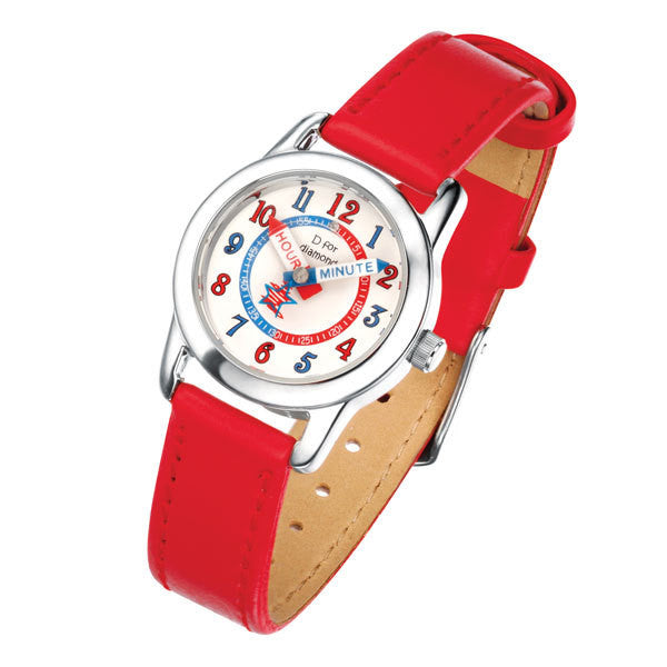 D for DIAMOND RED GIRLS WATCH Z785
