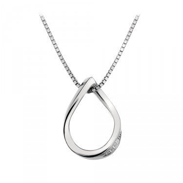 HOT DIMOANDS SILVER SIMPLY SPARKLE TEARDROP PENDANT DP461 - Robert Openshaw Fine Jewellery