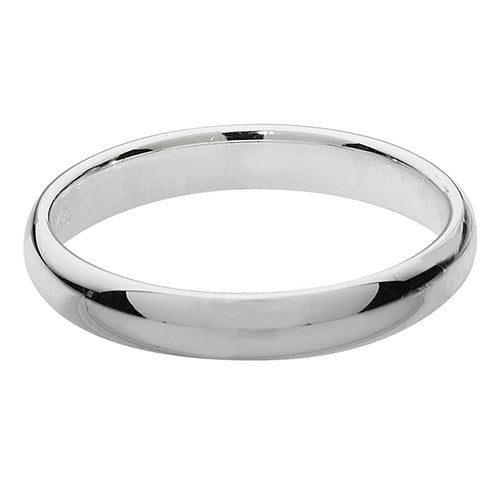 Silver Traditional Court 3mm  Wedding Ring G7713