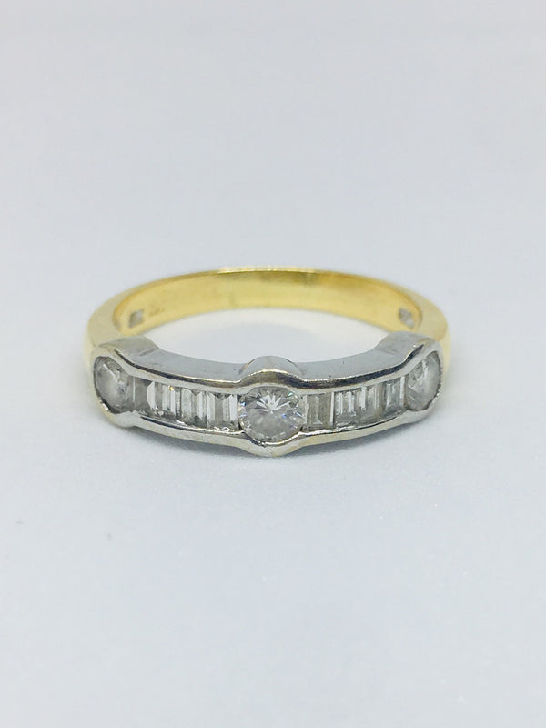 18ct Yellow Gold 0.88cts Eternity Ring