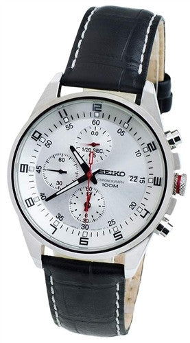 SEIKO GENTS STAINLESS STEEL CHRONOGRAPH WATCH 100M SNDC87P2