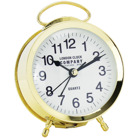 LONDON CLOCK CO RETRO GOLD ALARM 04154 - Robert Openshaw Fine Jewellery