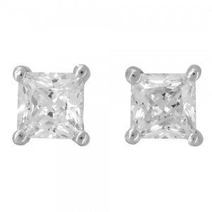 JOOLS SILVER 3mm CZ STUD EARRINGS KPE4SQ - Robert Openshaw Fine Jewellery