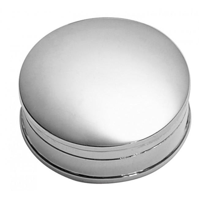 Carrs Silver Plain Round Pill Box NK003 - Robert Openshaw Fine Jewellery