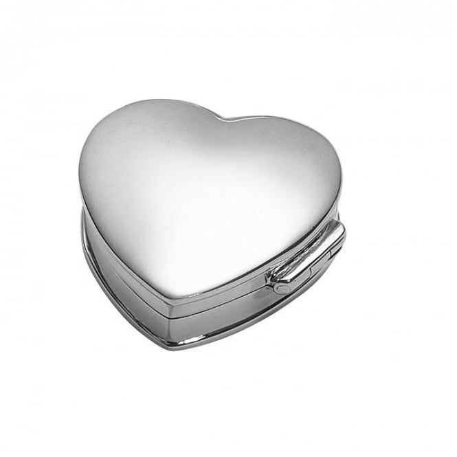Carrs Silver Plain Heart Pill Box NK004